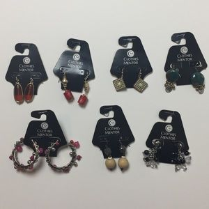 7 Pairs of Earrings Lot Chico's